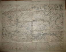 Karte Der Lechtaler-Alpen 1911 - Maßstab 1:25'000 - 72cm X 91cm - Herausgeber Deutscher Und österreichischer Alpen Verei - Landkarten