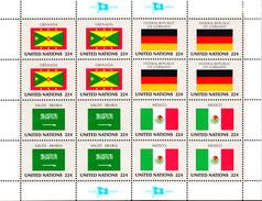 United Nations NY MNH 1985 Flag Sheets Scott #450-#465 - Neufs