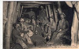 SAINT ELOY - Le Repas Des Mineurs Au Fond De La Mine - Assez RARE - TBE - Saint Eloy Les Mines