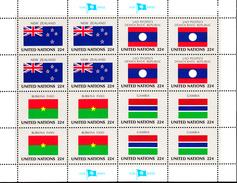 United Nations NY MNH 1986 Flag Sheets Scott #477-#492 - Neufs