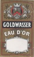 étiquette   - 1920/1940 - Gold WASSEUR - Eau D'or  PLIS - Whisky