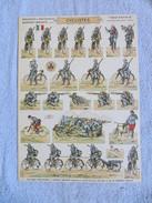 PRO PATRIA - SOLDATS à DECOUPER, CYCLISTES  ARMEE FRANCAISE, PLANCHE N°21, SOLDATS IMPRIMES RECTO-VERSO HD.H.BOUQUET - 1914-18