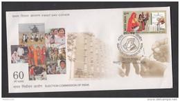 INDIA, 2010,  FDC,  Election Commission Of India,  Jabalpur  Cancellation - FDC