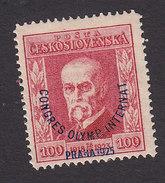 Czechoslovakia, Scott #B138, Mint Hinged, President Masaryk Surcharged, Issued 1923 - Czechoslovakia