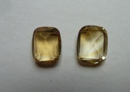 2 CITRINES Rectangulaires - 0.9mm X 10mm - - Jewels & Clocks