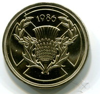 1986 Scotland Commemorative 2 Pound Coin - 1971-… : Decimal Coins