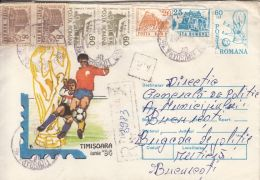 55015- USA'94 WORLD CUP, SOCCER, REGISTERED COVER STATIONERY, 1994, ROMANIA - World Cup