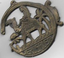"CHAMEAU , PALMIER INSCRIPTION "" JERUSALEM "" - Bronzen"