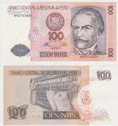 PERU  100 INTIS  1987  FDS - Perú