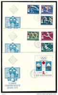 BULGARIA / BULGARIE - 1971 - Jeux Olimpiques D´Hiver Sapporo´72 - 3 FDC - Winter 1972: Sapporo
