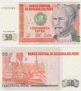 PERU  50 INTIS  1987  FDS - Perú