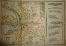 Stadtplan Von Düsseldorf 1929 - 31cm X 32cm - Maßstab 1:25'000 - Rechts Programm Der 89. Versammlung Der Gesellschaft De - Landkarten