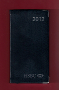Agenda De Poche Vierge 2012. Banque HSBC France. Tranche Argentée*** - Livres, BD, Revues