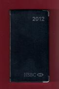 Agenda De Poche Vierge 2012. Banque HSBC France. Tranche Argentée*** - Libros, Revistas, Cómics