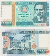 PERU  10000 INTIS  1988  FDS - Perú
