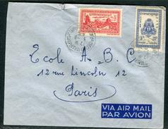 Cambodge - Cover / Enveloppe Pour Paris Par Avion En 1955 , Affranchissement Plaisant  Réf J 132 - Kambodscha