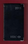 Agenda De Poche Vierge 2011. Banque HSBC France. Tranche Argentée*** - Blank Diaries