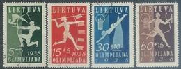 Lithuania  1938  Sc#B43-6 Olympics Set Used  2016 Scott Value $41 - Lituania