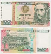 PERU  1000 INTIS  1988  FDS - Perú