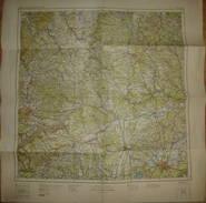 Vogels Karte Von Mitteleuropa - M32 SO München 1944 - Maßstab 1:500'000 - 55cm X 55cm - Landkarten