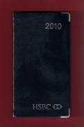 Agenda De Poche Vierge 2010. Banque HSBC France. Tranche Argentée*** - Libros, Revistas, Cómics