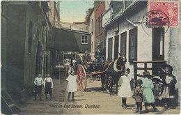 Cpa Canada – Sous Le Cap Street, Quebec ( Attelage ) - Quebec