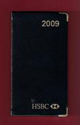 Agenda De Poche Vierge 2009. Banque HSBC France. Tranche Dorée*** - Livres, BD, Revues