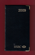 Agenda De Poche Vierge 2009. Banque HSBC France. Tranche Dorée*** - Agende Non Usate