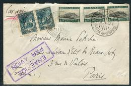 Grèce - Cover / Enveloppe Par Avion Pour Paris En 1931 , Affranchissement Plaisant  Réf J 140 - Briefe U. Dokumente