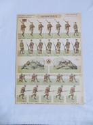 PRO PATRIA - SOLDATS à DECOUPER, INFANTERIE, ARMEE ANGLAISE, PLANCHE N°3  SOLDATS IMPRIMES RECTO-VERSO HD.H.BOUQUET - 1914-18