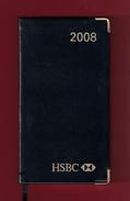 Agenda De Poche Vierge 2008. Banque HSBC France. Tranche Dorée*** - Books, Magazines, Comics