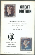 ROBSON LOWE, GREAT BRITAIN, The MINIMUS Collection , July 1980, 120 Pages.  Very Nice. MO159 - Catalogues De Maisons De Vente
