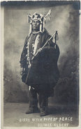 Cpa Usa – Sioux With Pipe Of Peace – Prince Albert ( Calumet De La Paix ) - Etats-Unis