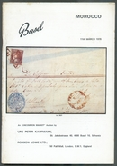 ROBSON LOWE Et P. KAUFMANN, MAROCCO, The Postage Stamps And Postal History  Of MAROC, 11-3-1970, 60 Pages.  Very Nice. M - Catalogues De Maisons De Vente