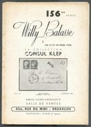 USA - VENTE WILLY BALASSE 156, Collection Consul KLEP , 27-28 Mars 1956, Bruxelles, 98 Pages + 32 Planches.. - Catalogues De Maisons De Vente