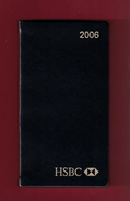 Agenda De Poche Vierge 2006. Banque HSBC France. - Agende Non Usate