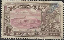 INDIA 1931 Inauguration Of New Delhi - 1a Council House FU - India (...-1947)