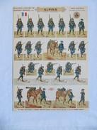 PRO PATRIA - SOLDATS à DECOUPER, ALPINS  ARMEE FRANCAISE  PLANCHE N°10  SOLDATS IMPRIMES RECTO-VERSO HD.H.BOUQUET - 1914-18