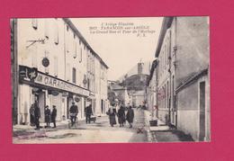 09-  TARASCON SUR ARIEGE - La Grande Rue Et Tout De L'Horloge - GARAGE FONTEZ - France