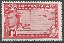 Cayman Islands. 1938-48 KGVI. 1d MH. SG 117 - Cayman Islands