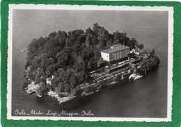 : Giardino Botanico Dell' ISOLA MADRE - Veduta Aerea     Lago Maggiore  CPSM Grd Format 1960 - Italia
