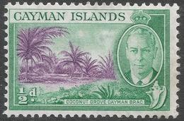 Cayman Islands. 1950 KGVI. ½d MH. SG 136 - Cayman Islands