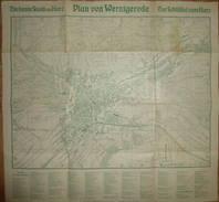 Plan Von Wernigerode 1932 - 43cm X 45cm - Strassenverzeichnis - Landkarten
