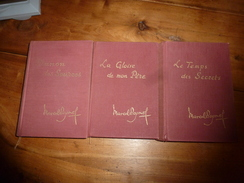 1961-62-64 : Lot De 3 Livres De Marcel Pagnol ----> Manon Des Sources,La Gloire De Mon Père,Le Temps Des Secrets. - Lots De Plusieurs Livres