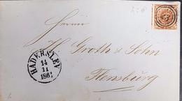 Denmark 1861 Letter.Haderslev 3 Ring Cancellation - 1851-63 (Frederik VII)