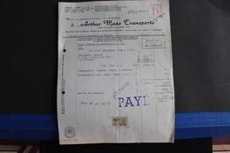 "Fac- 55 / Anvers - Arthur Maes Transports - Frêt Enbarquées Par Navire "" Oldebaran ) Déstination  De BEYROUTH  / 1957 - Transport"