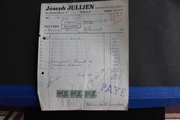Fac- 56 / Liège, Welkenraedt - Transport Par Camion - Joseph Julien,  Rue Grande-Bruyère, Welkenraedt   / 1957 - Transport