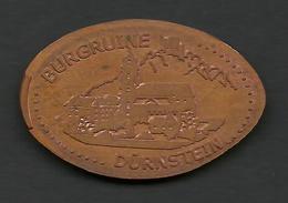 Austria, Jeton Made Of 5 C. Coin In Durnstein, Richard The Lionheart's Prison. - Pièces écrasées (Elongated Coins)