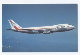 AVION --BOEING 747 WARDAIR CANADA  -RECTO/VERSO--C75 - 1946-....: Moderne
