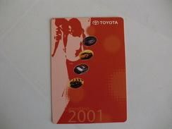 Toyota Salvador Caetano Portugal Portuguese Pocket Calendar 2001 - Calendarios